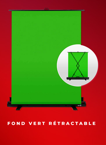 fond vert rétractable elgato