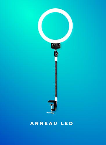 anneau led pour webcam et smartphone