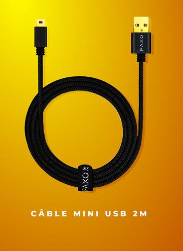 câble mini usb 2 mètres