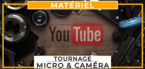 tournage materiel audio micro et video camera
