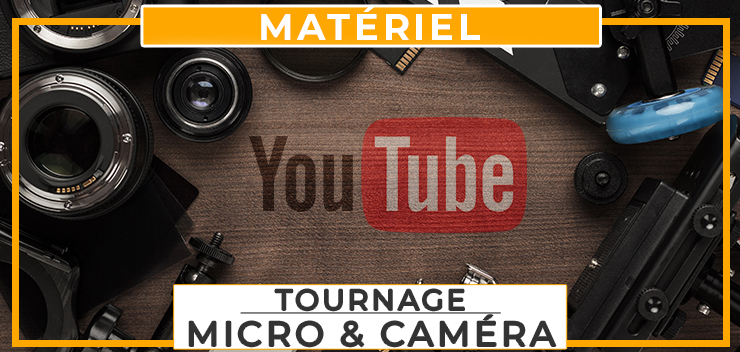 tournage materiel audio micro et video camera