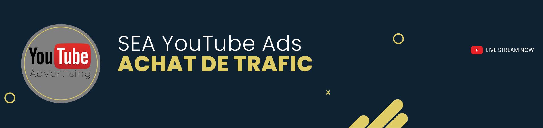 YouTube Ads Achat de trafic